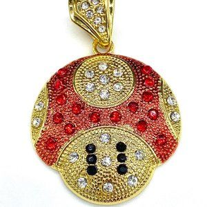 14k Gold Plated Iced Super Mario Pendant